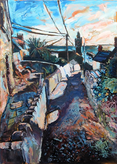 Susan Isaac - Porthleven from Institute Hill