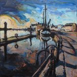 Susan Isaac - The Harbour at Wells-Next-The-Sea (2017)
