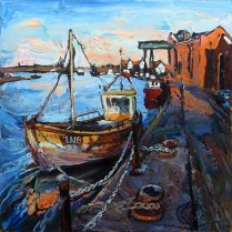 Susan Isaac - The Quay and the Granary Wells-next-the-Sea