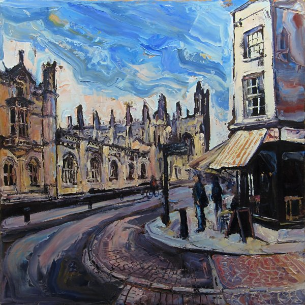 Susan Isaac - Kings College from Benet Street Cambridge (2017)