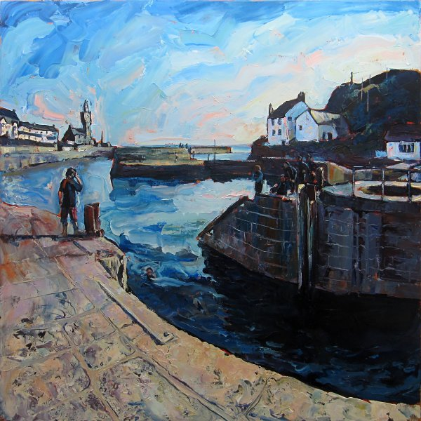 829 Susan Isaac - Bathers Porthleven
