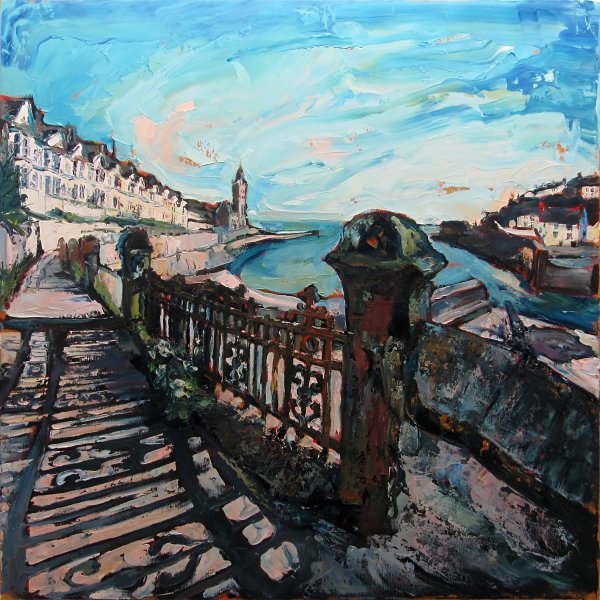 Susan Isaac - July Evening on Bay View Terrace Porthleven