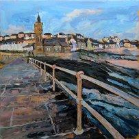 Susan Isaac - Evening Light Porthleven Pier (2017)