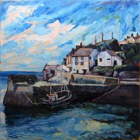 Susan Isaac - Porthleven Harbour & The Ship Inn