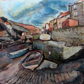 836 Susan Isaac - The Slipway at Beckside Staithes (2017) Img_8912