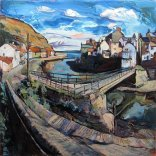 Susan Isaac - Staithes Beck and Footbridge (2017)
