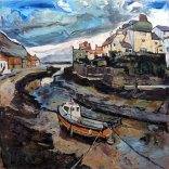 Susan Isaac - Staithes from the Beck (2017)