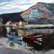 Susan Isaac - Cow Bar Nab & North Side at Staithes