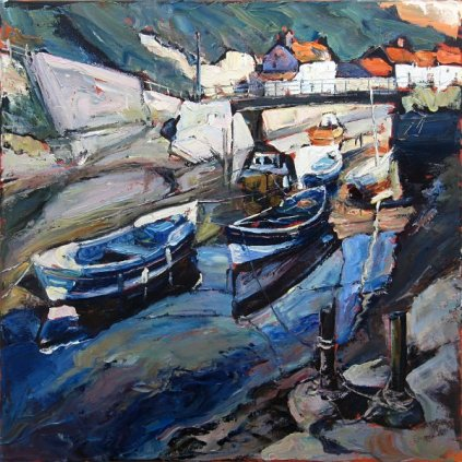 Susan Isaac - The Footbridge & Boats at Staithes