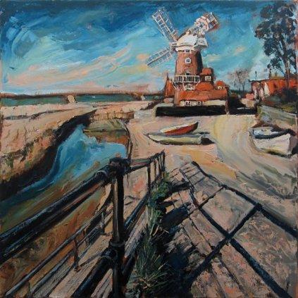Susan Isaac - The Windmill at Cley-next-the-Sea
