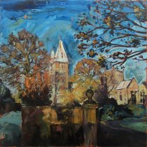 Susan Isaac - Southwell Minster from Bishops Drive