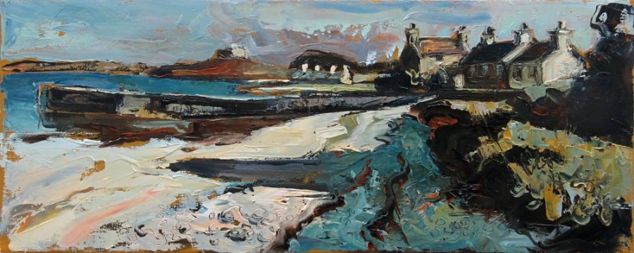 Susan Isaac - Towards the Blockhouse - Old Grimsby Harbour on Tresco (2019)