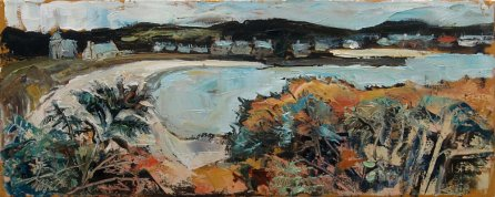 Susan Isaac - Old Grimsby Harbour from below the Blockhouse on Tresco (2019)