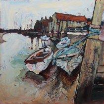 Susan Isaac - Boats Along the Quay Blakeney
