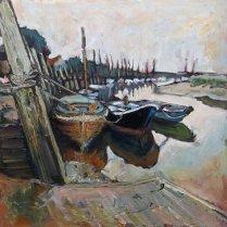 Susan Isaac - Three Boats Blakeney