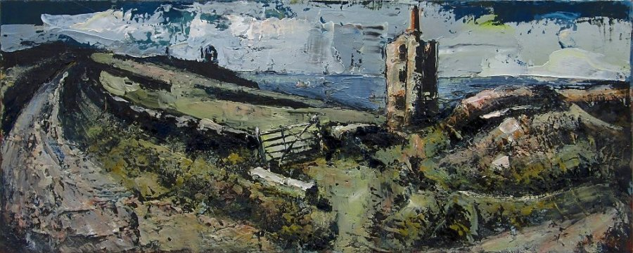 Susan Isaac - West Wheal Owles & Wheal Edward Engine Houses (2013)