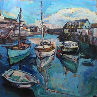 600 Susan Isaac - The West Quay at Mevagissey