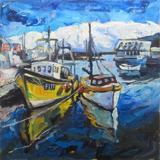 791 Susan Isaac - The Harbour at Mevagissey
