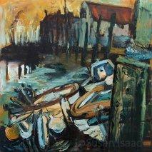 Susan Isaac - Three Boats in Blakeney