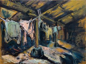 Susan Isaac - Washing in the Crew Yard