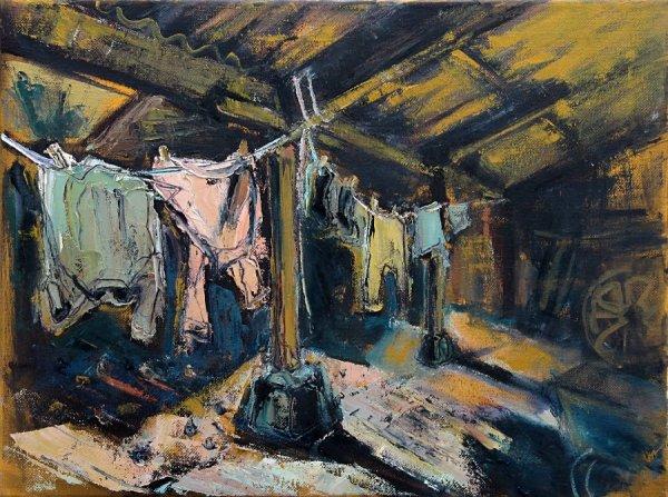 Susan Isaac - Washing in the Crew Yard
