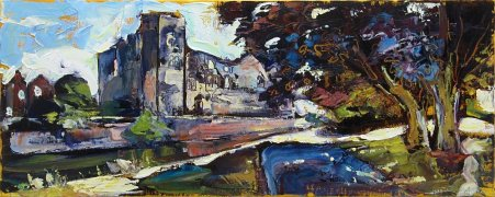 Susan Isaac - Newark Castle from the Towpath (2014)