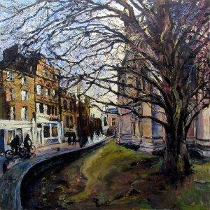 Susan Isaac - 'Evening Light, St John's Street (Cambridge)'