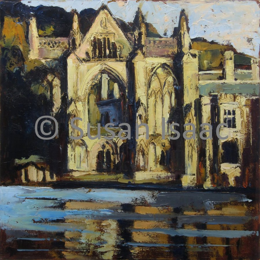 Susan Isaac - Newstead Abbey from across the Lake