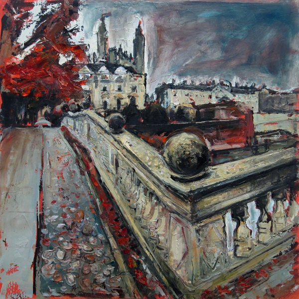 Susan Isaac - Clare College Bridge and Kings at Cambridge
